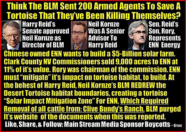 Corruption, Senator Reid and the BLM