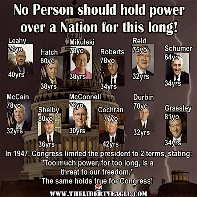 Term limits are needed here