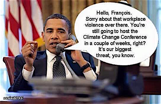 Obama priorities between terrorism and Global Warming